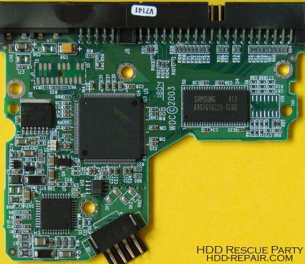WESTERN DIGITAL WDXXXXBB-00HEA0 001130 PATA electronic circuit board