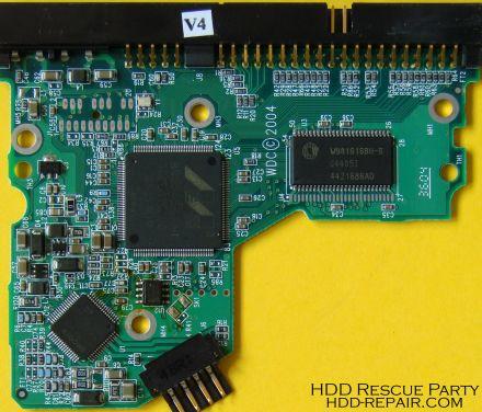 WESTERN DIGITAL WDXXXXBB-00JHA0 001292 PATA electronic circuit board