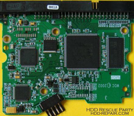 WESTERN DIGITAL WDXXXXJB-00DUA3 001160 PATA electronic circuit board